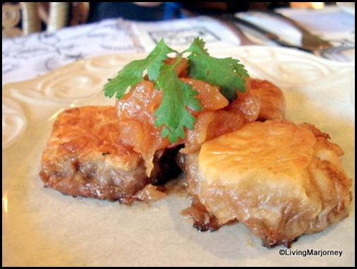 Restaurante Pia Y Damaso 04: Filo Tart with Pork Asado, Apple Relish
