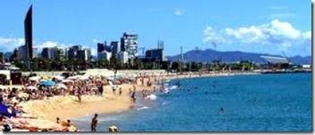 Barcelona-Bogatell-Beach-with-Barcelona-Flats