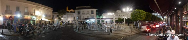 Medina-Sidonia town square at night
