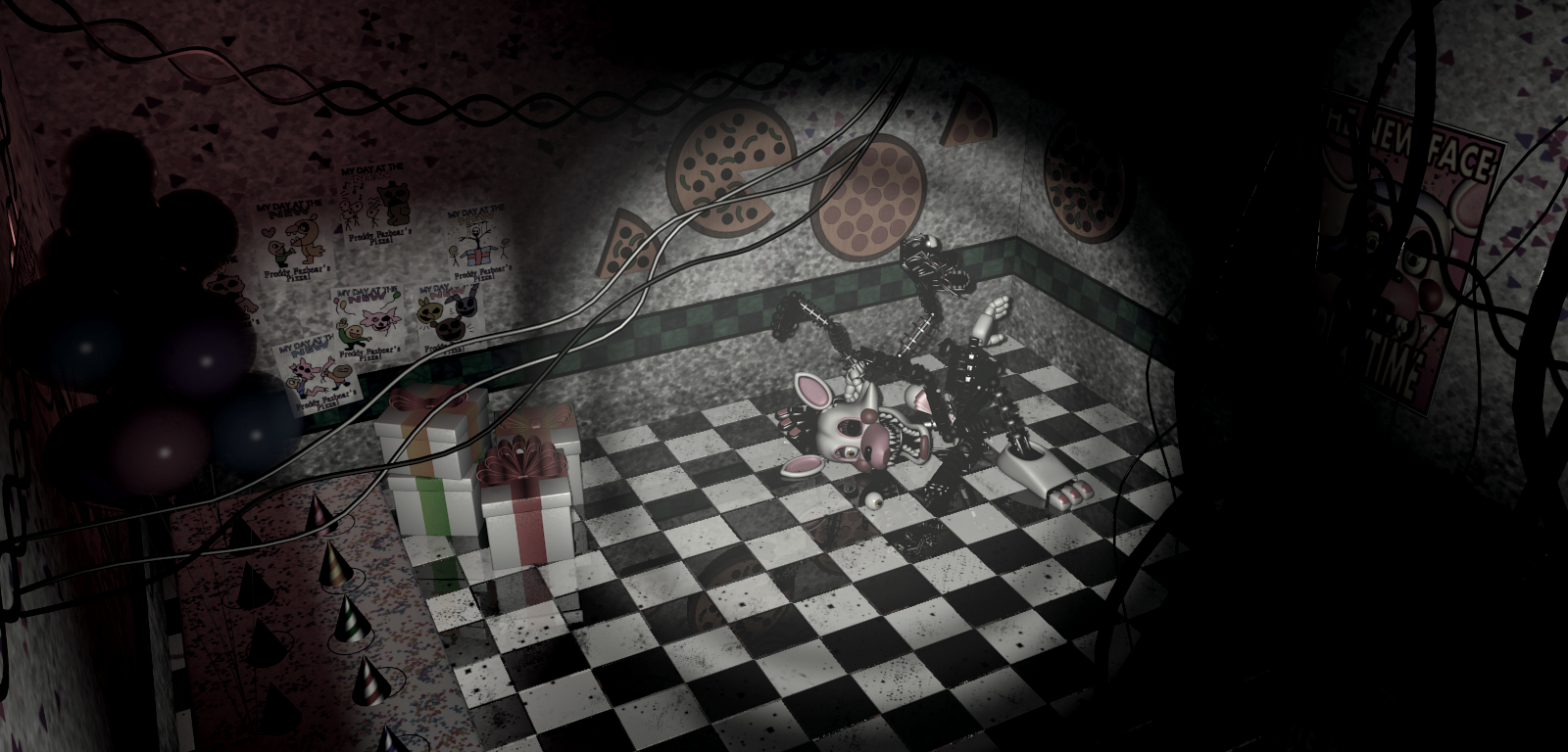 fnaf notice encuentralo todo kids cove mangle foxy pirate