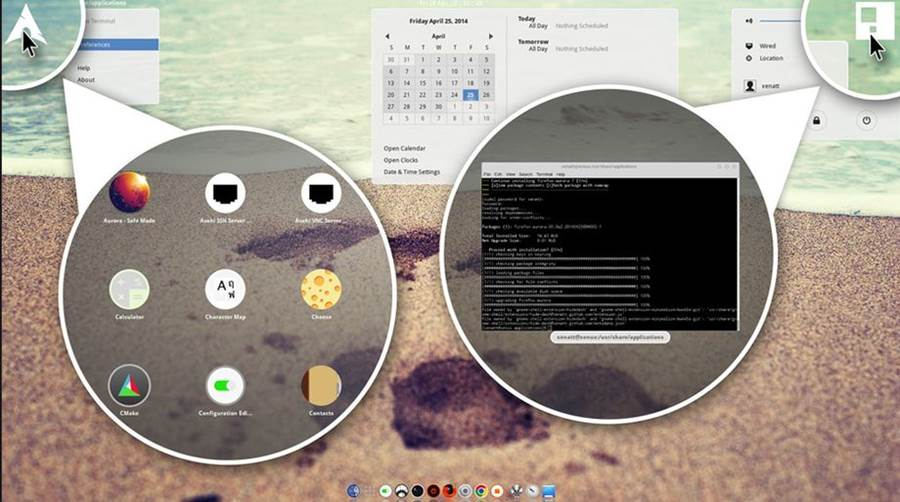 Launch And Expose in Gnome Shell
