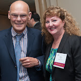 Carville with Kathy Regan, Senior Vice President, Capital One.