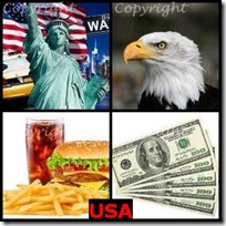 USA- 4 Pics 1 Word Answers 3 Letters