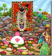 Worship of Govardhana Hill