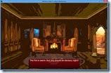 صورة أخرى لمنزل شيزوكا الغريب و صورة للمدفأة من لعبة الرعب ليلة بلا نوم