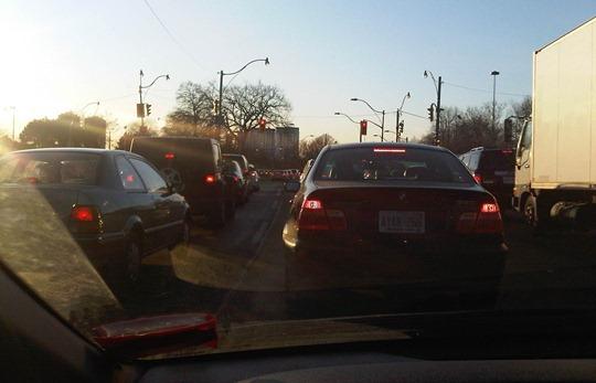 Toronto traffic jam
