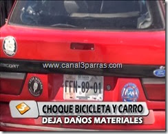 06 IMAGENES CHOQUE CARRO Y BICICLETA - DAÑOS MATERIALES.mp4_000134360