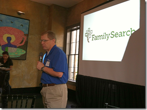 David Rencher addresses bloggers at FamilySearch Media Dinner