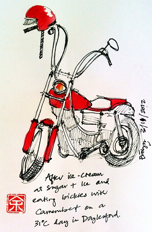 Red bike drawing