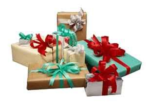 regalos de navidad de diferentes colores