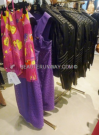 H&M Singapore Versace leather jacket purple dress