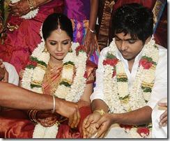 Music Director GV Prakash Kumar Saindhavi wedding pic