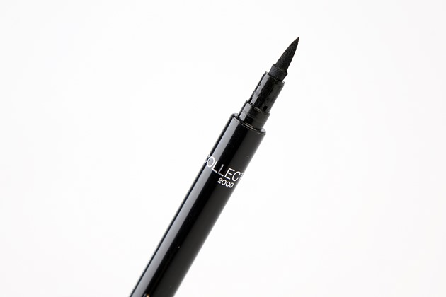 collection 24 hour felt tip eyeliner black review liquid