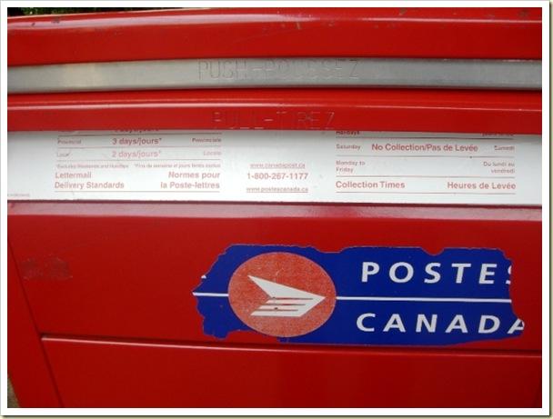Details written on letterbox