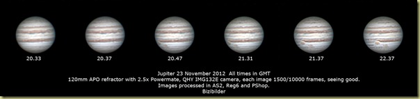 23 November 2012 Jupiter