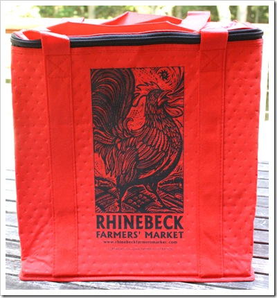 rhinebeck farmers market insulated tote bag