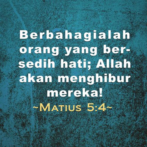 Berbahagialah orang yang bersedih hati; Allah akan menghibur mereka!