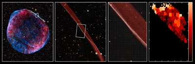 observações da frente de choque da SN 1006