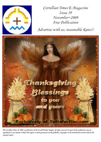 Cover of Correllian Times Emagazine's Book Issue 39 November 2009 Thanksgiving Blessings To You And Yours