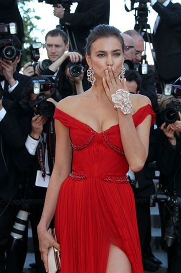 Russian model Irina Shayk at Cannes Films Festival