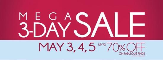 Mega 3-day Sale