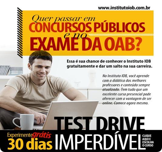 Promoção TEST DRIVE - 7 e 30 dias de acesso grátis