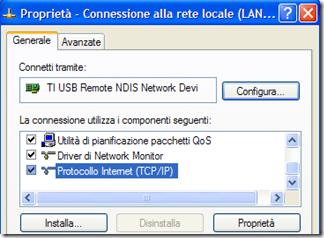 Proprietà – Connessione alla rete locale