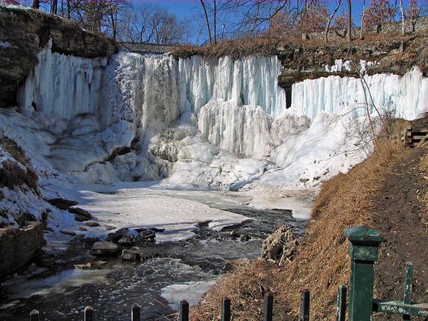 Behind Minnehaha Frozen Falls