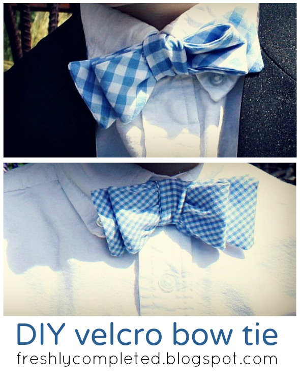 DIY Velcro Bow Tie by Freshly Completed