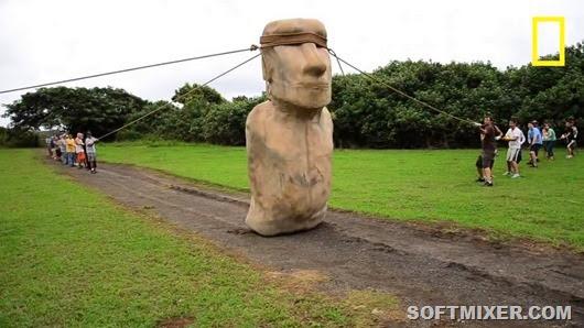 Древние легенды говорят, что статуи шли сами.