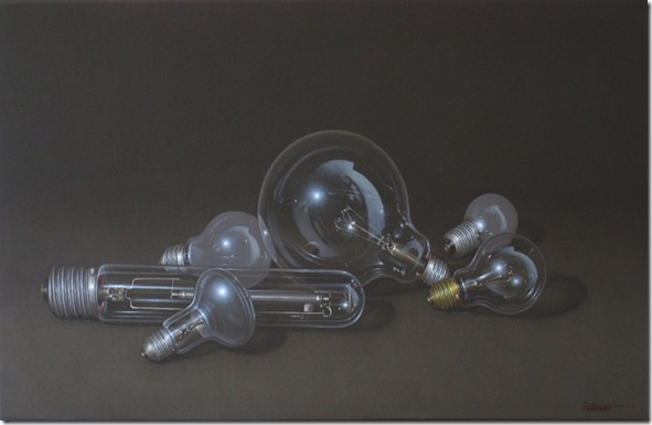 still-life with light bulbs