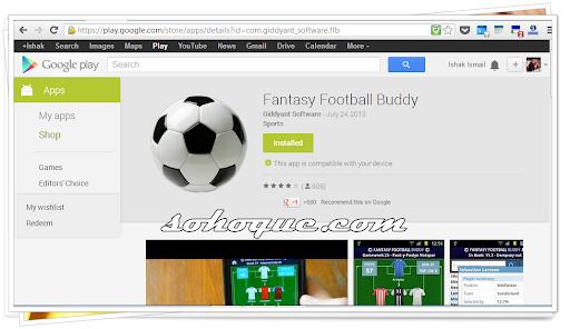 Football Buddy Untuk Pemain Fantasy Football - aplikasi mesti install