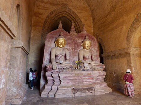 Obiective turistice Myanmar: Interior templu Bagan