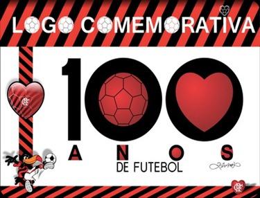 Logo Flamengo 100 Anos de Futebol