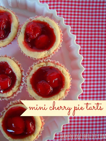 mini cherry pie tarts
