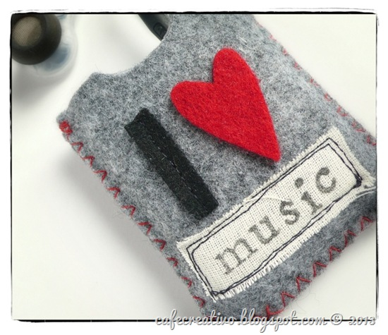 cafe-creativo - big shot - ipod case felt - porta lettore in feltro