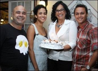 Solange Couto e familia