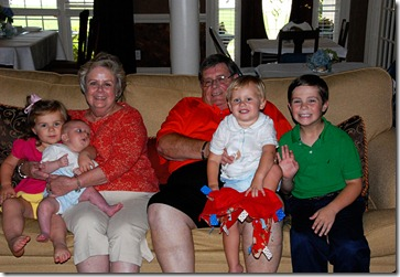 Grandkids with Corbitts
