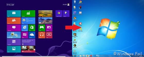 Windows 8 para Windows 7