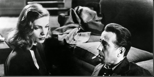 Humphrey Bogart and Lauren Bacall in The Big Sleep