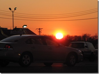 Boardman, OH -Sunset -February 6, 2012