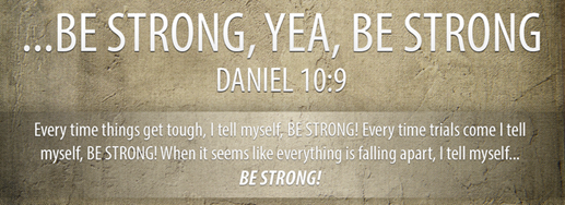Be strong Bible Verse