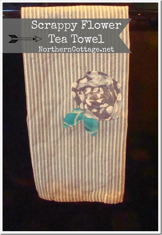 {Northern Cottage} Scrappy Flower Tea Towel (2)