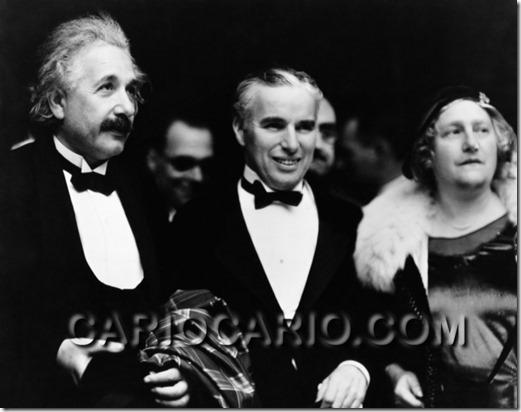 Albert Einstein e Charlie Chaplin