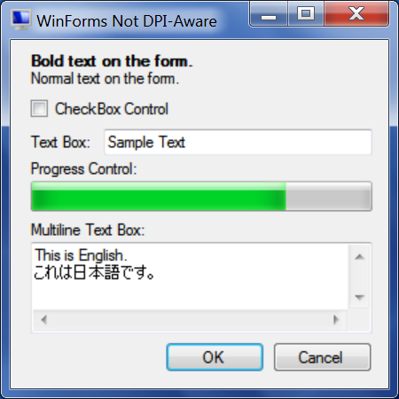 WinForms Not DPI-Aware - 144 PPI