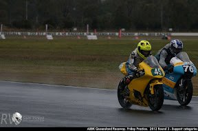 ASBK Queensland Raceway. Friday Practice.  2012 Round 3 - Support categories