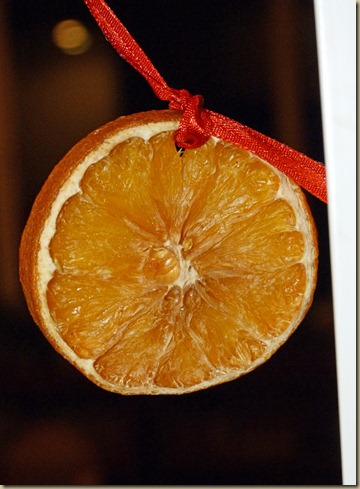 Making a Garland From Dried Orange and Apple Slices 5