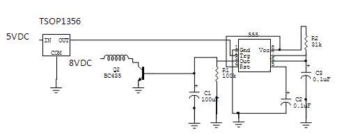 MICROCONTROLLER BASED AUTOMATIC VEHICLE CONTROL transmitter circuit