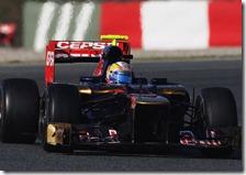 Vergne nei test di Barcellona 2012