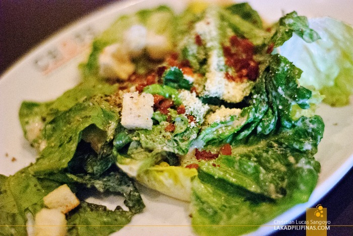 Classic Caesar Salad at Chops Chicago Steakhouse